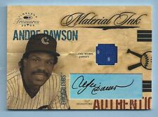 ANDRE DAWSON 2004 TIMELESS TREASURES MATERIALS INK JERSEY AUTOGRAPH AUTO /100