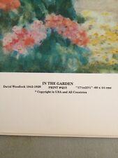 """Art Print: """"In The Garden"""" David Woodlock 1842-1929. Matte Paper 17.5 X 23.5"""