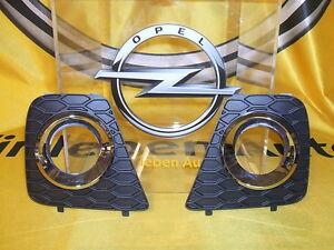 Original Opel Astra H OPC Nebelscheinwerfer Blenden Abdeckung Neu Turbo