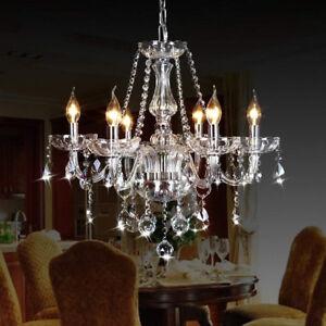 Chandelier 6 Arms Ceiling Mount Pendant Light Lamp Modern Illumination