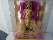 2008 RARE 50th Anniversary Robert Best Gold Glamour Barbie Collector Doll  NRFB!