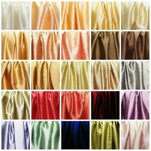 Faux Silk Fabric sold by yards One side Dupion Silk other side Satin Silk.