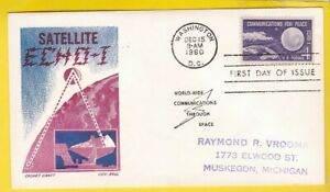 SATELLITE ECHO #1173 US FIRST DAY COVER 1960 CACHET CRAFT CACHET FDC
