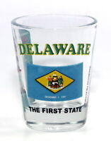 DELAWARE THE FIRST STATE ALL-AMERICAN COLLECTION SHOT GLASS SHOTGLASS