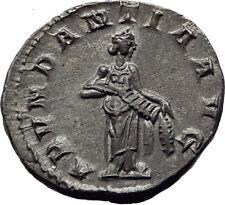 TRAJAN DECIUS 250AD Rome Silver Genuine Ancient Roman Coin Abundantia  i65342