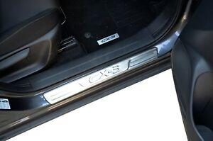 S/S Door Sill Panel Scuff Kick Plate Protector For Mazda CX-3 2015-21