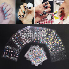 50 Sheets Flower 3D Nail Art Transfer Stickers Decals Manicure Deco Tips 5*6.5cm