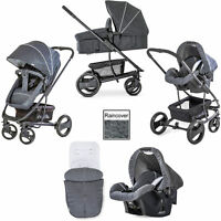 Hauck Pacific 4 Shop n Drive 2 Way Facing Pushchair Car Seat - Melange Charcoal