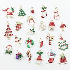 23Pcs Metal Alloy Mixed Christmas Charms Pendants Party Decor Ornament_SP