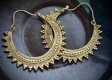 Tribal Ethnic Handmade Brass Boho Geometric Golden plated Designer earrings
