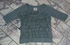 ♛   HOLLISTER  ♛ hübsches, verspieltes Rüschen- T-shirt  ♛  Gr. S  ♛