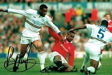 Brian DEANE SIGNED Autograph 12x8 Photo 2 AFTAL COA Leeds United LUFC