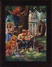 THE BIBLE TELLS ME SO by Charles Freitag 12x16 FRAMED ART Children Church Kids
