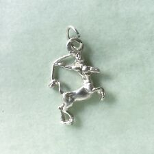 SAGITTARIUS Archer Zodiac sIgn - 2cm high 925 sterling silver charm pendant