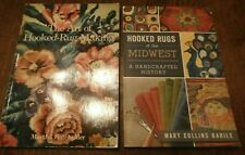 New listing 2 Rug Hooking Books, Hooked Rugs of the Midwest & The art of hooked Rug Making