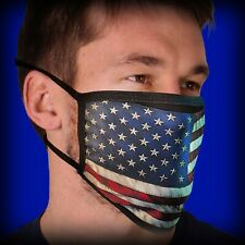 Hot Leathers Vintage Flag Face Mask with Filter Pouch