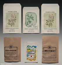 Colección 5 x bolsas drogas casa + 1 x bolsa orozuz para 1910 - 1960