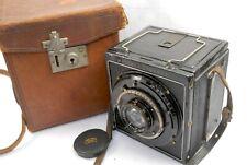 Mentor Compur Reflex 6x9 plate camera, 10.5cm f3.5 Zeiss Tessar Lens, cased
