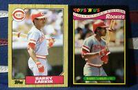 BARRY LARKIN RC 1987 TOPPS ROOKIE #648 & RARE TOYS R US ROOKIE NM HOF LOT X 2🔥‼