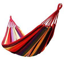 Colore rosso all'aperto a righe tela Amaca Altalena disteso reclinabile letto Campeggio Trekking