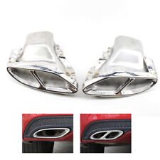 Coupe Rear Cylinder Exhaust Trim Tips For Benz E Class W212 W213 Metal