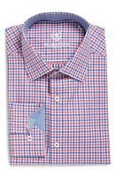 * NWT Bugatchi Trim Fit Check Dress Shirt NWT 16.5 34/35, 16 34/35