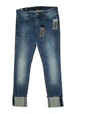 Buffalo David Bitton Faith Mid Blue Denim Skinny Crop Jeans Size 24 X 24 New $79