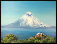 Original MARTIN STOPHER Oil on Canvas Artwork - Popocatepetl from Cholula, 2002