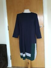 Ladies Dress Size 16 PRINCIPLES BEN DE LISI Navy Tunic Smart Office Work Day