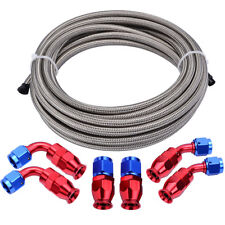 Teflon PTFE 3/8 Fuel Line Hose with -6AN PTFE Hose Fittings for E85 Ethanol Fuel
