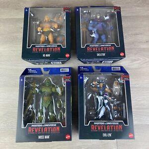 Masters of the Universe Revelation Set of 4 Wave 1 Netflix He-Man Figure Lot