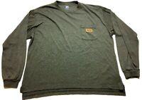 Walls Work Wear Mens Gray Long Sleeve Front Pocket Shirt Size XL
