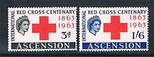 Ascension 1963 Red Cross Centenary SG 85/6 MNH