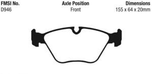 EBC Yellowstuff Sport Brake Pad Set for 04-11 BMW  X3 / 06-09 Z4 / 01-07 330