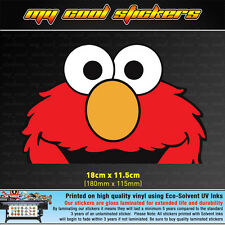 Elmo Peeping Vinyl Sticker Decal, 4X4 Ute Car Window funny peeking