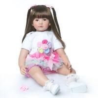24'' Reborn Girl Doll Christmas Birthday Gifts Handmade Toddler Baby Vinyl Dolls