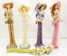 Popular Imports Putting on the Ritz Victorian Tassel Dolls Set of 5