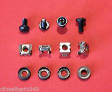 Negro Rack mount/cage NUTS M6 X 1 Pack De 4 Tuercas,4 Tornillos Y 4 Taza arandelas)
