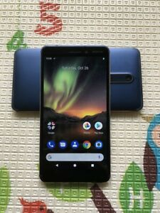 "Nokia 6.1 2018 TA-1050 32GB 5.5"" Single SIM 16MP Unlocked Smartphone Blue"