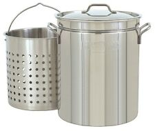 Stockpot With Strainer 44qt Stainless Steel Steam Boil Pot Fryer Lobster Crab