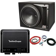 "Rockford Fosgate Punch / Prime 10"" Sub Enclosure 500W Mono Amp Package  RRP £455"