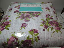 3 pieces Traditions by Waverly Primrose Patio- Violet Floral King Quilt Set New