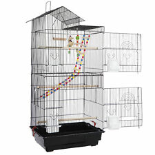 """39"""" Roof Top Large Parakeet Bird Cage with Stand for Small Quaker Parrot"""