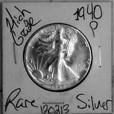 1940 Walking Liberty Silver Half Dollar HIGH Grade Rare US Coin #120213
