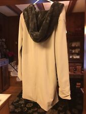 THE BATTALION ECO FRIENDLY APPAREL- VEGAN FAUX FUR BAMBOO COAT JACKET Sz L