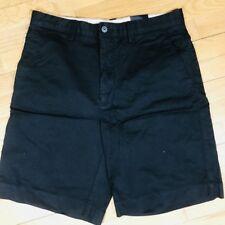 Hathaway Men Flat Front black Chino Shorts Golf wide pocket 32 NWT cotton blend