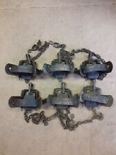 6 Duke 1 3/4 Factory 4X Coil Spring Traps Animal Traps Trapping Coyote Fox Coon