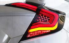 Fit Honda Civic Tail Lights 2016 2017 2018 2019 LED Smoke Rear Lamp Assembly