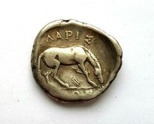 circa.356 - 320 B.C Ancient Greece Thessaly - Larissa Silver Drachma Coin.VF