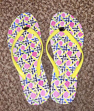 NEW 7 M Tommy Bahama Thong Beach Pool Abstract Flip Flops Women's Whykiki Sandal